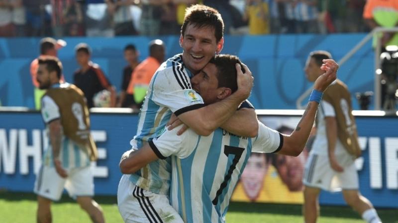 Messi e Di Maria protagonizaram as melhores chances de gol da Argentina durante toda a partida