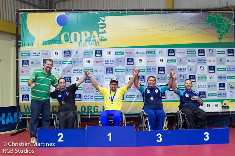 Alexandre Ank comemora primeiro lugar na etapa de Piracicaba da Copa Brasil de Tênis de Mesa