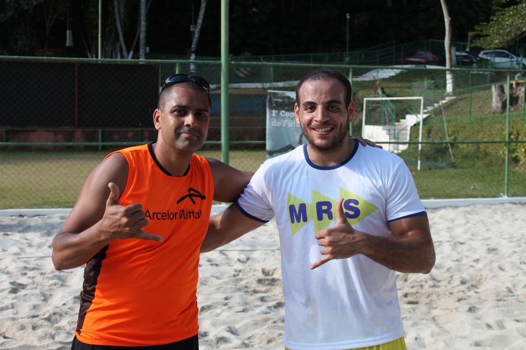 Ronaldo Nascimento, da Arcelor (esquerda), e Pedro Cunha, da MRS