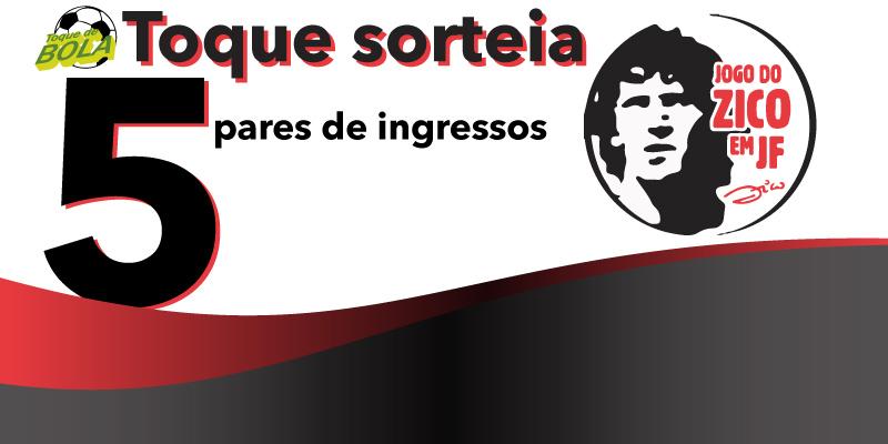 Zico em JF: veja como concorrer a ingressos com o Toque de Bola. Zinho, Beto e Cláudio Adão anunciados