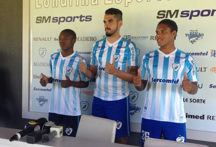Yaya, Luizão e Toledo são reforços do Londrina (Foto: Eduardo Lhamas)