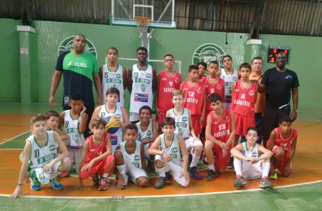 Equipes sub-13 do JF Celtics e do Sesi-Leopoldina