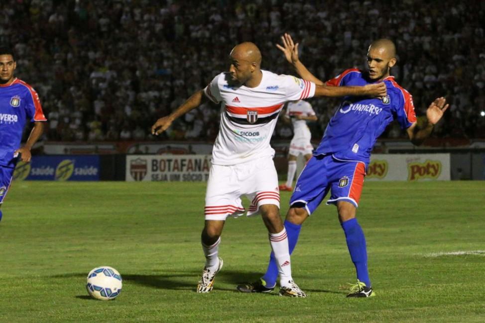 O atacante Nunes é a referência do Botafogo-SP (Foto: site oficial da CBF)