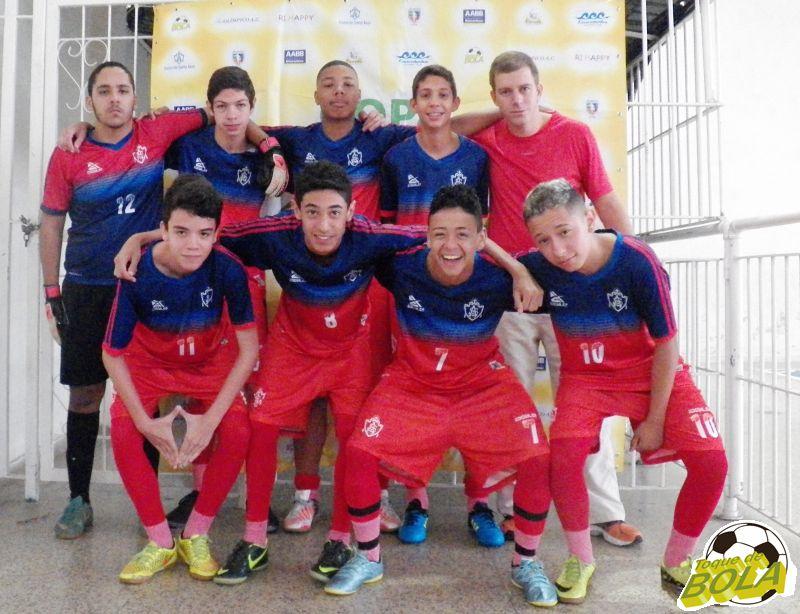Santos Anjos foi formado por João Pedro, Lucas, Samuel, Rangel Jr, Renan, Gabriel, Arthur e Matheus