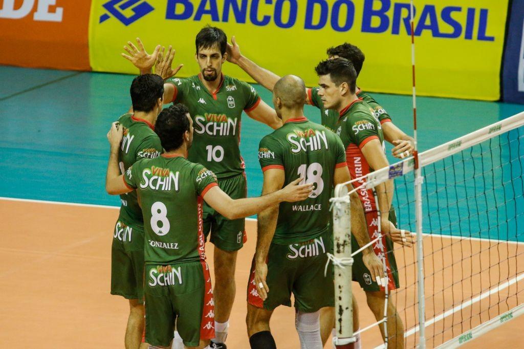 Vôlei Brasil Kirin está em quarto na Superliga 2015/2016 (Foto: CBV)
