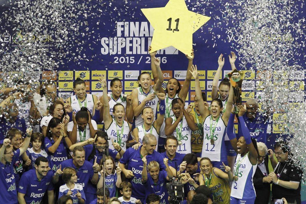 Rexona Ades conquistou o 11° título da Superliga Feminina (Foto: Divulgação/CBV)