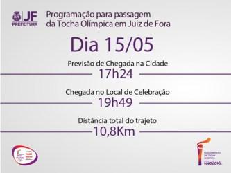 Prefeitura divulga detalhes da passagem da tocha olímpica em JF. Veja roteiro completo