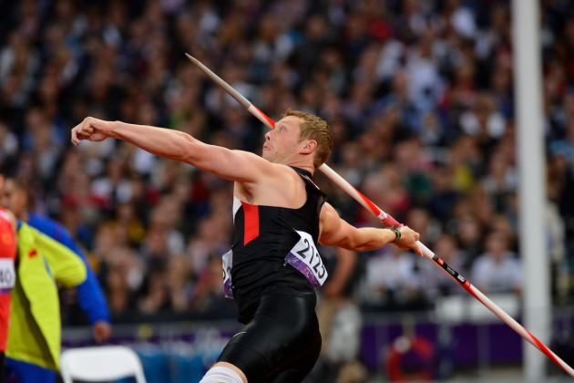 Alister McQueen nos Jogos Paralímpicos de Londres, em 2012 (Foto: Phillip MacCallum/CPC)