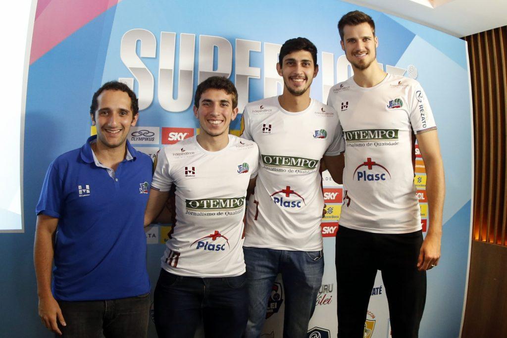 JF Vôlei representado no lançamento da Superliga, segunda-feira, em São Paulo