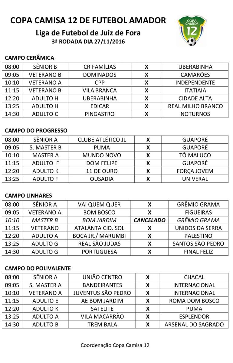 Copa Camisa 12 de Futebol Amador 2016: veja resultados e próximos  jogos
