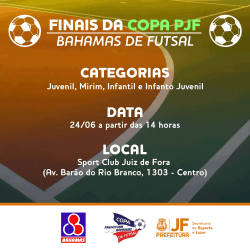 Copa Prefeitura Bahamas de Futsal: veja tabela das últimas rodadas