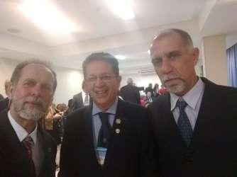 Com o presidente do Distrito Brasil, Pedro Souza