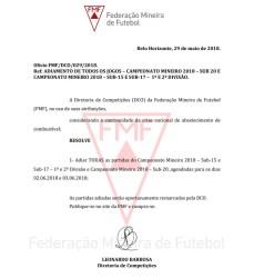 Sem jogo! FMF adia novamente rodada do Mineiro de base