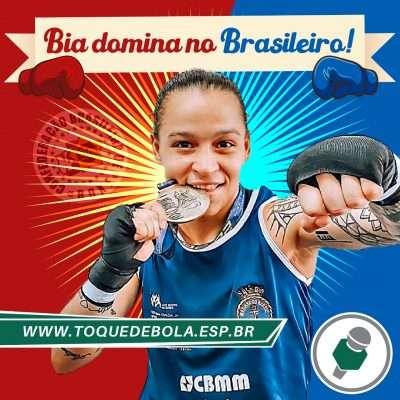 """Beatriz Ferreira celebra conquista do tri no Brasileiro: """"Adrenalina é até maior!"""