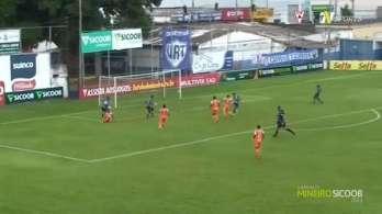 João Diogo recebeu cruzamento pela esquerda e marcou o gol da vitória da URT