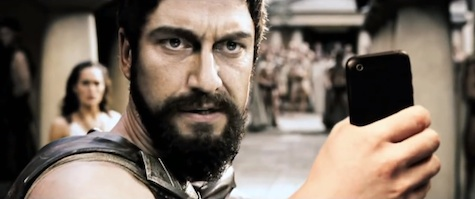 Voldemort selfie video sci-fi fantasy characters Frodo Indiana Jones Neo Leonidas