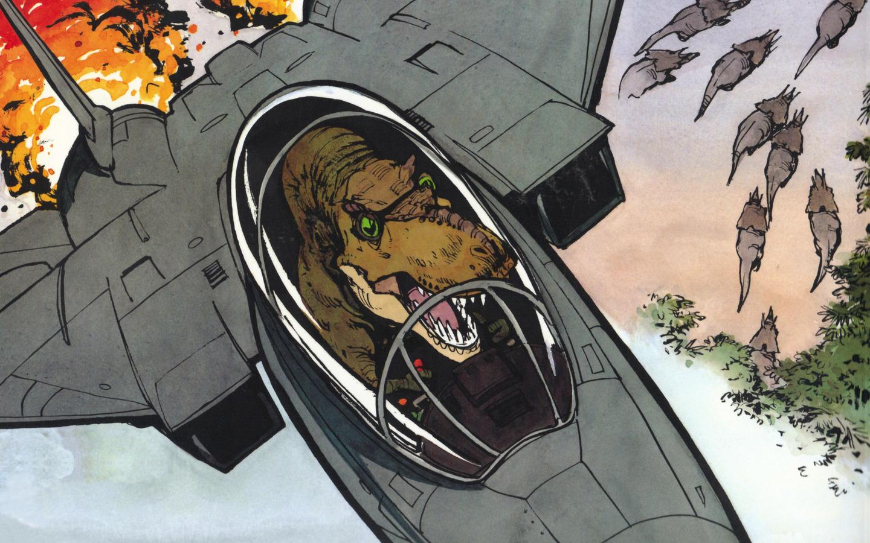 Calvin and Hobes, dinosaurs.