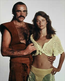 Noted actress Charlotte Rampling was in Zardoz