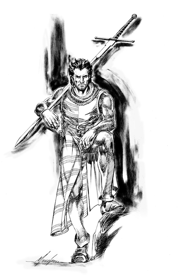 This illustration of the character Eleazar appears in the Hardcover and digital editions of The Mongoliad: Book One Collector's Edition.