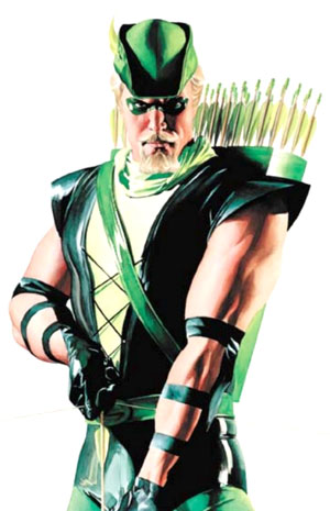 Oliver Queen, aka GREEN ARROW, mayor of Star City (depending on which continuity you're referring to) and member of the Justice League (also depending on which continuity you're referring to, because, comics)