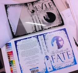 The Trouble with Fate showing sherpa with clear spot-uv plate