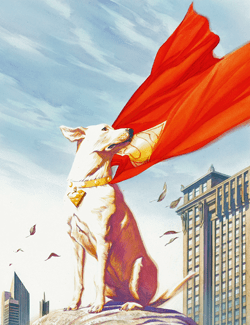 Krypto painting by Alex Ross
