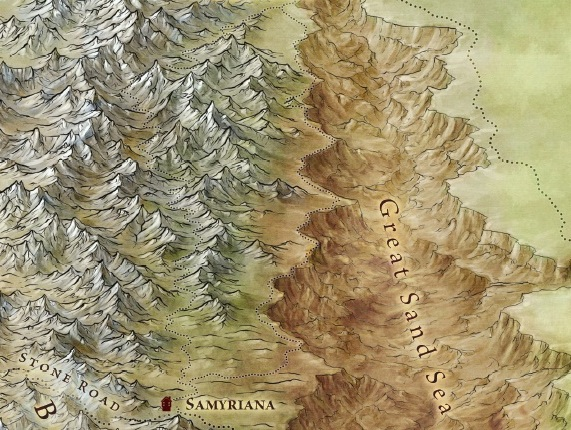 New Song of Ice and Fire map of the east continent from Bantam Books' forthcoming The Lands of Ice and Fire