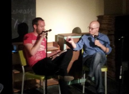 Me and Lev Grossman last spring at Word Bookstore