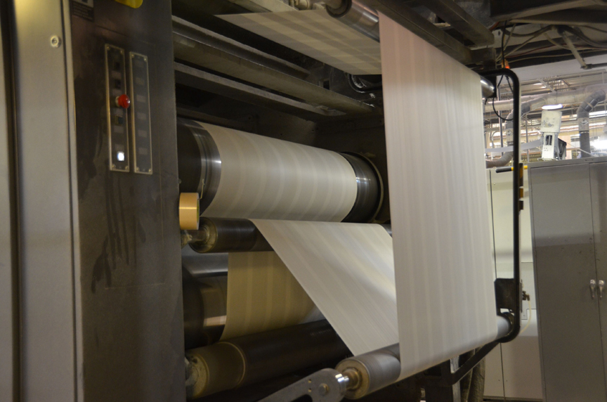 Step by step photos of A Memory of Light being printed at the bindery.