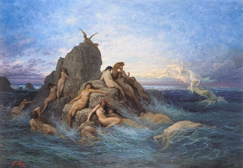 Naiads of the Sea by Gustave Dore