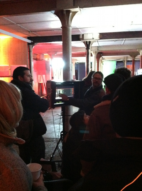The Nostalgist Daniel H Wilson Giacomo Cimini on set