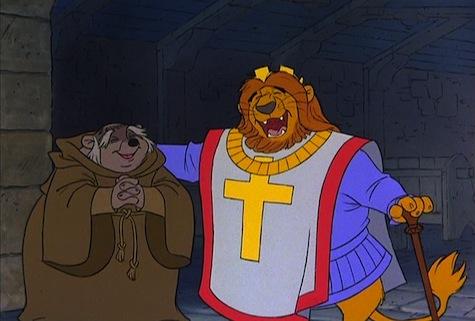 Disney Robin Hood King Richard Friar Tuck
