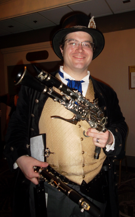 The oboist made and OBOE GUN!