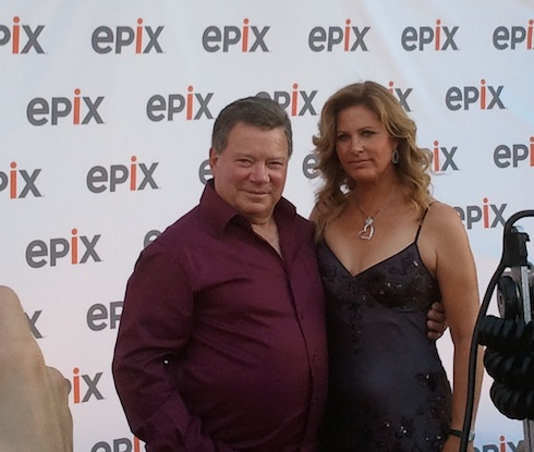 William Shatner & Elizabeth Martin on the red carpet