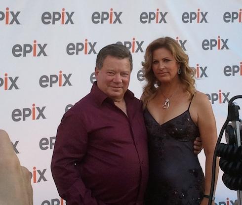 William Shatner & Elizabeth Martin on the red carpet