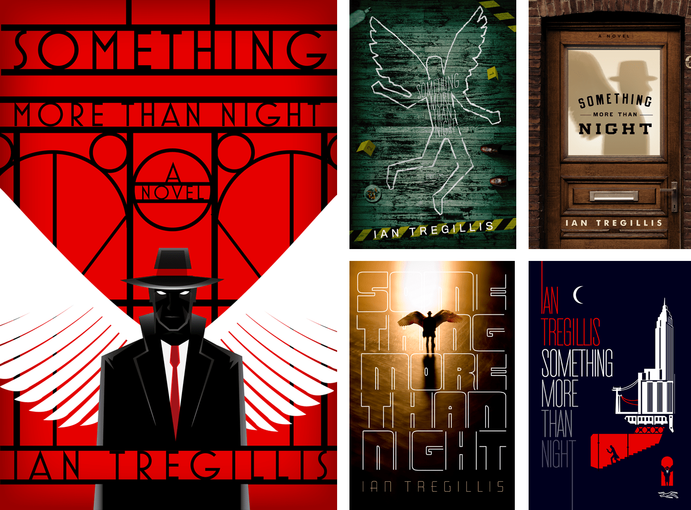 Something More Than Night by Ian Tregillis alternate cover designs by Will Staehle