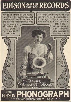 Edison phonograph steampunk music