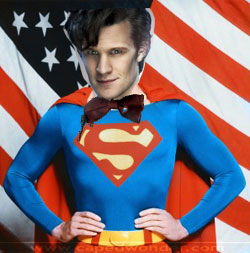 Doctor Who Superman Man of Steel TARDIS Same Character Matt Smith