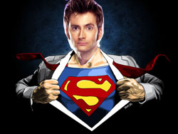Doctor Who Superman Man of Steel TARDIS Same Character David Tennant