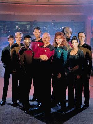 The first-season Next Generation crew