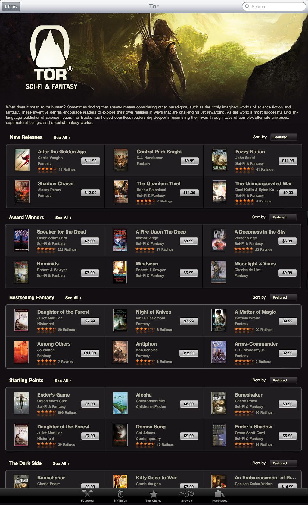 Tor Books on iBooks