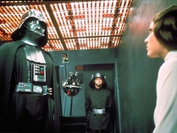 Darth Vader and Princess Leia interrogation in Star Wars