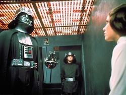Darth Vader and Princess Leia interrogation in Star Wars