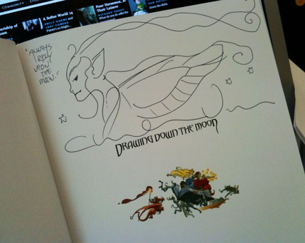 Drawing Down the Moon, signed by Charles Vess