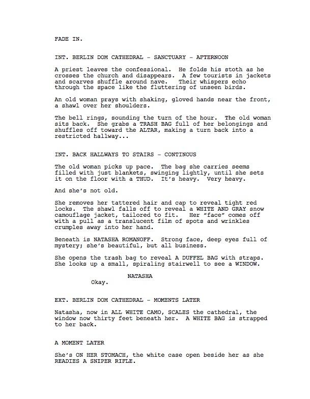 hypothetical Black Widow screenplay Nathan Edmondson #BlackWidowMovie
