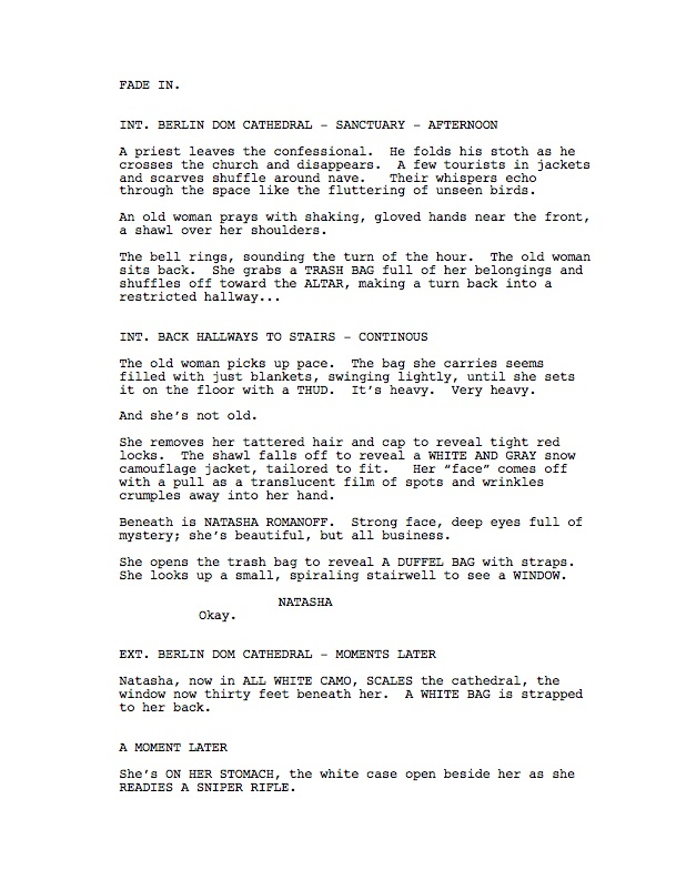 hypothetical Black Widow screenplay Nathan Edmondson #BlackWidowMovie