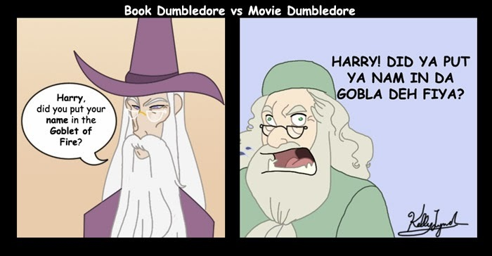 best Harry Potter memes calm Dumbledore Goblet of Fire book vs movie
