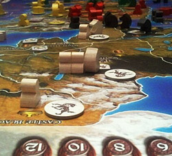 A Game of Thrones—The Board Game map