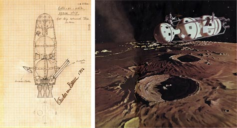 Colliers, Wernher von Braun and Chesley Bonestell