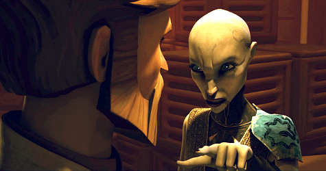 Star Wars: The Clone Wars, Asajj, Obi-Wan